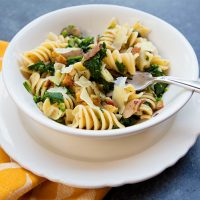 Pasta With Broccoli Rabe, Peppered Bacon, & Breadcrumbs