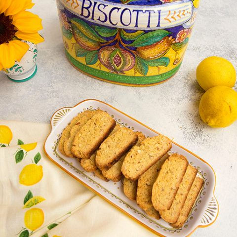 Lemon, Olive Oil Biscotti With Almonds