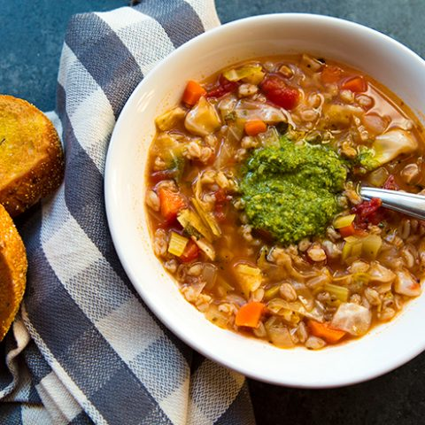 Cabbage, Bean & Farro Soup