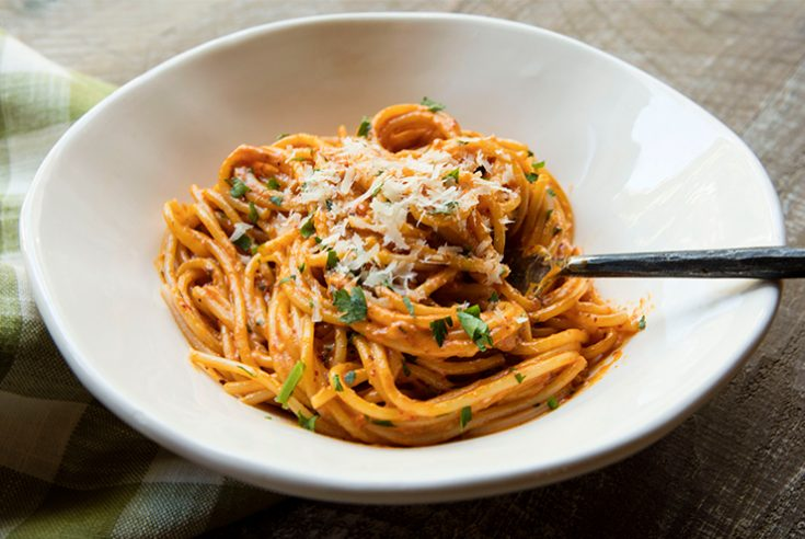 A unique twist to a traditional Italian pasta that adds just enough heat.