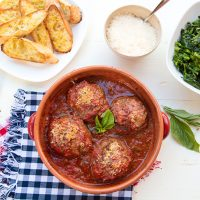 Gigantic Meatballs For National Meatball Day {Polpettone}