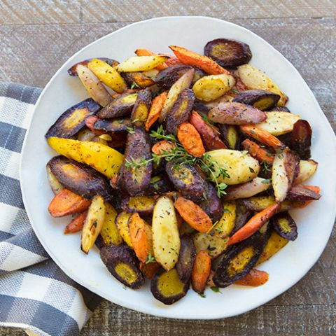 Muti-colored Roasted Herbed Carrots