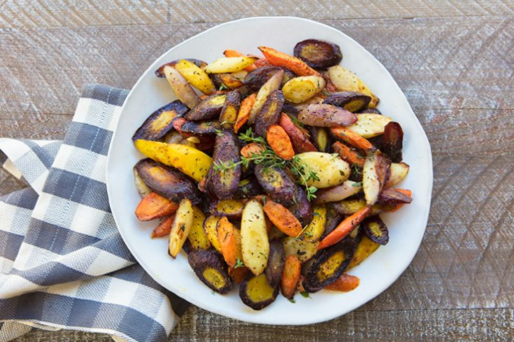 Roasting carrots caramelizes the natural sugars adding a delicious earthy sweetness.