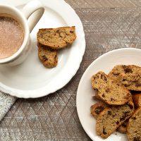 Spiced Whole Wheat Walnut Fig Biscotti