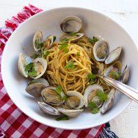 Spaghetti With Clams, Butter & Bottarga