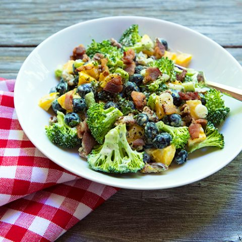 Broccoli, Blueberry, & Mango Salad