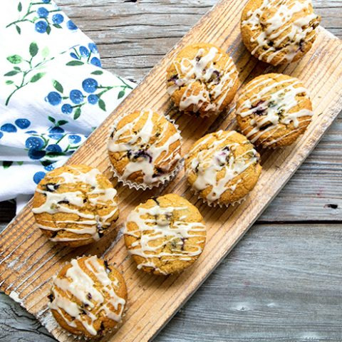 Michigan Blueberry, Lemon & Thyme Muffins