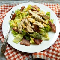 Grilled Chicken Caesar Salad {Low Carb}