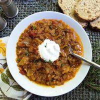 Instant Pot Cabbage Roll Soup {Keto/Paleo}