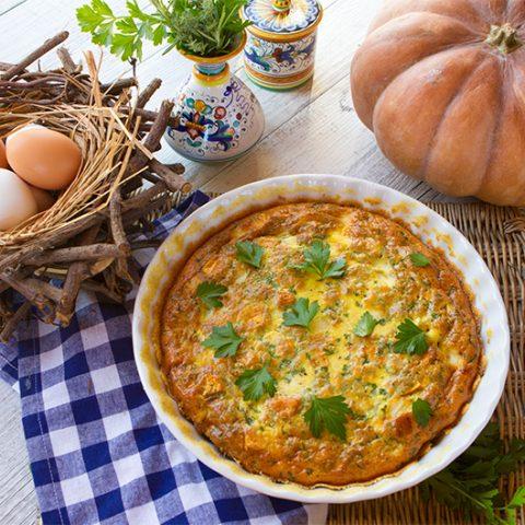 Sweet Potato & Pancetta Crustless Quiche for World Egg Day