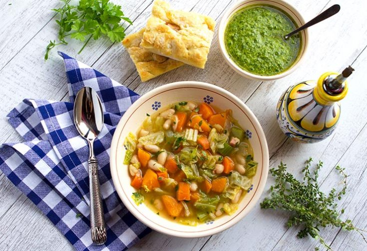 This hearty vegetable soup is made during olive harvest to celebrate.