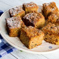 Olive Oil Applesauce Snack Cake