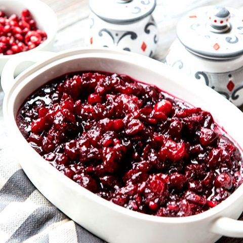 Tangy Cranberry Pomegranate Sauce