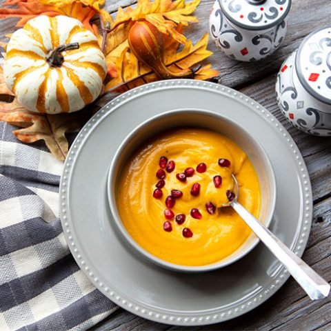 Holiday Spiced Roasted Butternut Squash Soup