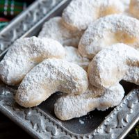 Buttery Toasted Almond Crescent Cookies