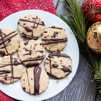 Espresso Shortbread Cookies With Dark Chocolate Drizzle