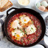 Spicy Egg & Pancetta Bake