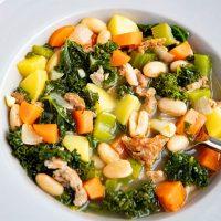 Sausage, Kale, & White Bean Soup