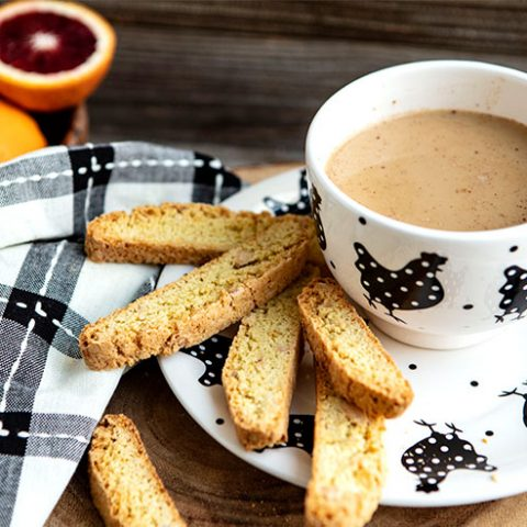 Blood Orange Toasted Almond Biscotti