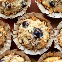 Healthier Whole Grain Blueberry Muffins
