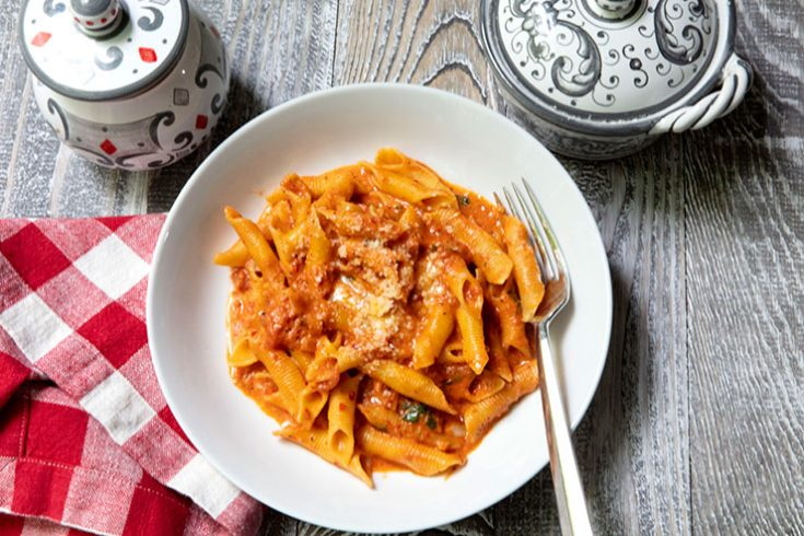 A full flavored pasta recipe with just enough heat.