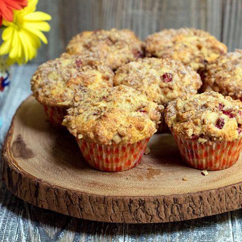 Cinnamon Sugar Rhubarb Muffins