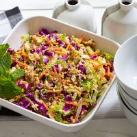 Mixed Cabbage & Brussels Sprout Slaw Salad