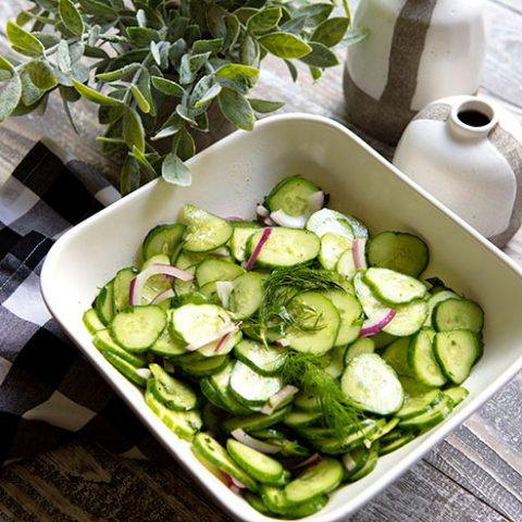Fresh & Easy Cucumber Salad