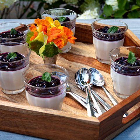 Buttermilk Panna Cotta With Michigan Blueberry Sauce