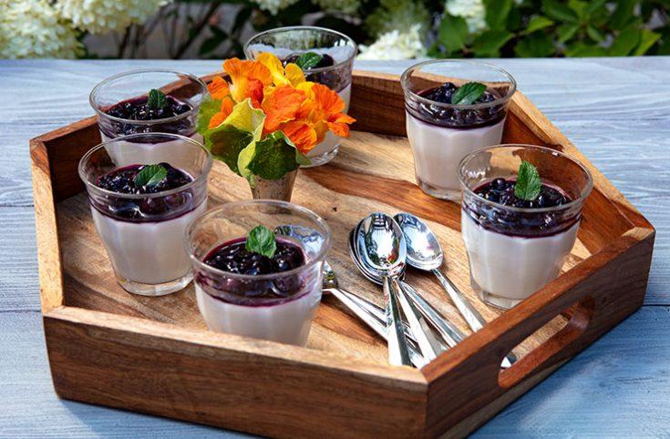 A creamy, light tasting dessert from Delfina restaurant in San Fransisco.