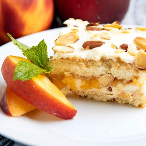 Peach Almond Tiramisu