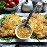 Pork Chops Milanese With Mostarda Sauce