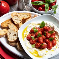 Whipped Ricotta Cheese Spread With Roasted Tomatoes
