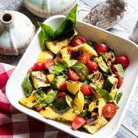 Charred Summer Squash Salad