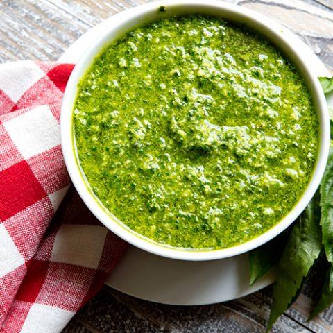 How To Make Stay Green Basil Pesto