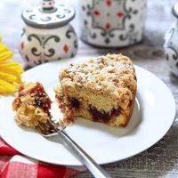 Rustic Jam Crumb Cake