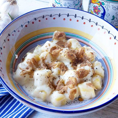 Potato Gnocchi With Truffle Cheese Sauce