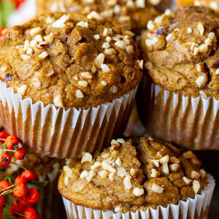 Spiced Butternut Squash & Hazelnut Muffins