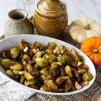 Brussels Sprouts With Pancetta & Chestnuts
