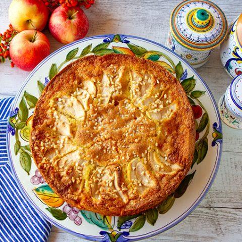 Fall Apple Almond Cake