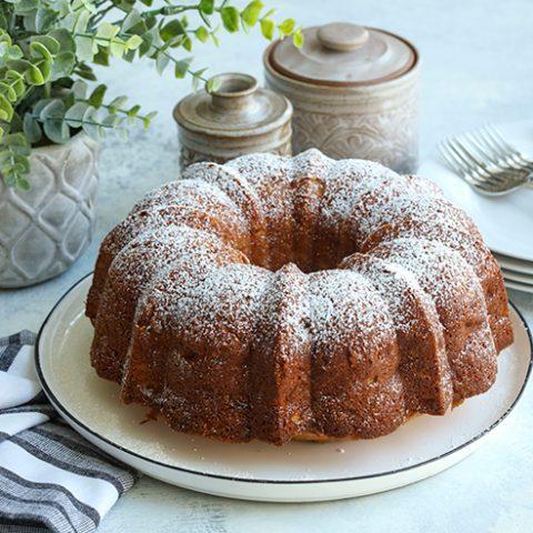 Apple Olive Oil Bundt Cake