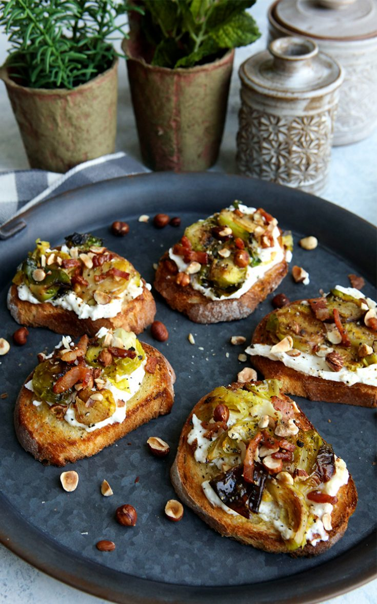 A uniquely flavored bruschetta to serve as a snack or appetizer.
