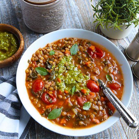 Hearty & Healthy Lentil & Farro Soup
