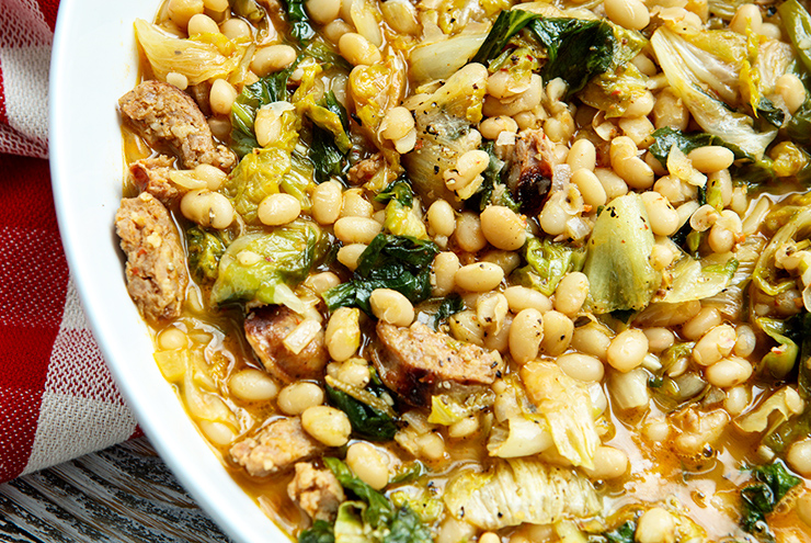 Escarole With White Beans Sausage Italian Food Forever
