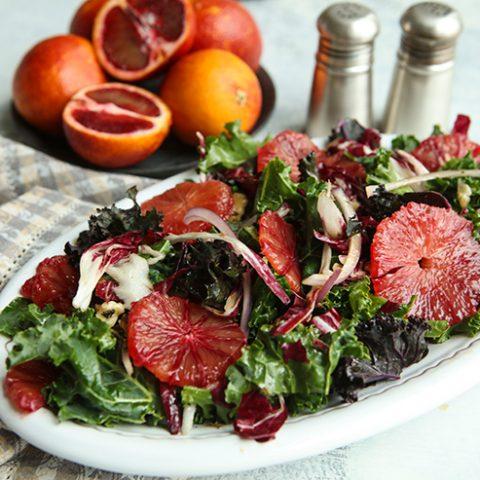 Winter Bitter Greens & Blood Orange Salad