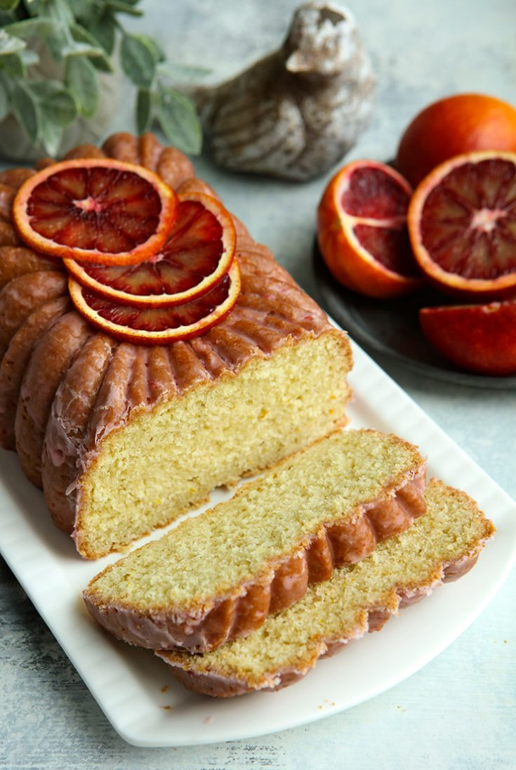 A vibrant flavored moist loaf made with blood oranges.