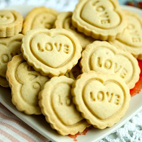 Valentine's Day Ginger Spice Stamped Cookies