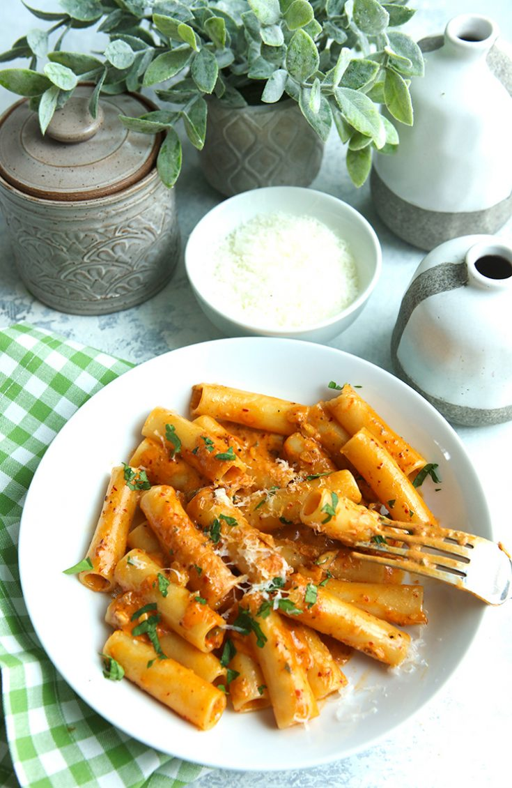 A rich, creamy pasta sauce with just enough heat.