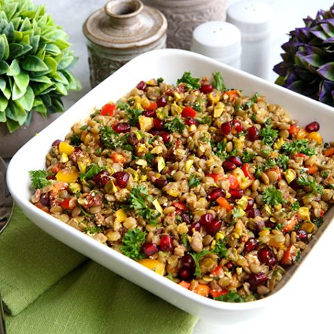 Colorful Lentil Salad With Fresh Herbs