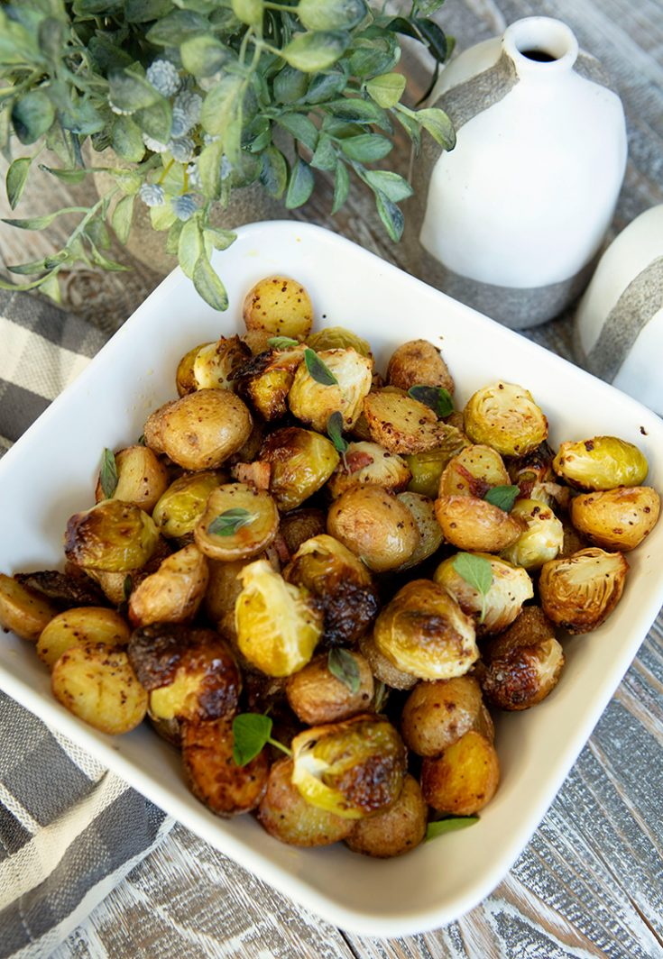 This roasted veggie combination would be a great holiday side dish.